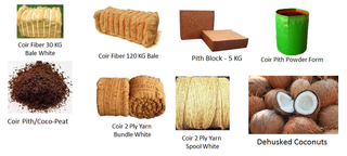 Company manufactures and supplies coir fiber, coco peat, coir yarns mainly to exporters.