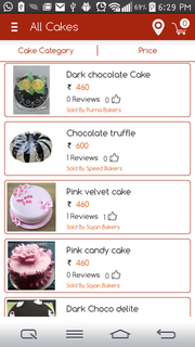 We are a mobile app company which helps users to order cakes online.