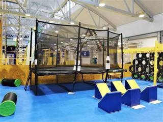 Asset sale: Complete equipment of ninja warrior inspired functional fitness gym.