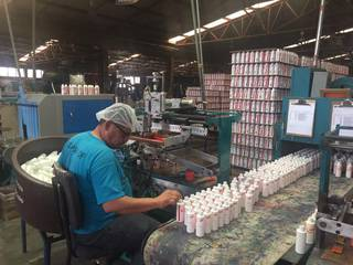 Manufacturing of plastic containers, lids and screen printing and serving 50 permanent clients.