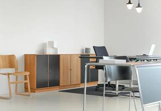 Office furniture manufacturing company that sells products directly to clients and also through distributors.