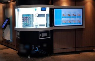 Automated fast food serving takeaway business with two outlets which are completely operated by robots.