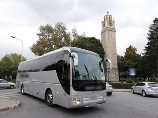 Coach bus services providing charters and tours to foreign tourists in the Balkans and Europe.