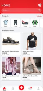 App with an available prototype that could be used to trade, sell and rent apparel.