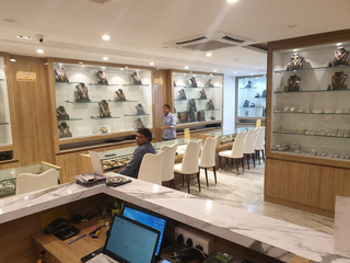 Retail outlet selling silver and other precious jewellery, with customer across Andhra Pradesh and Telangana.