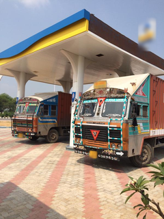 Petrol near toll plaza on national highway with 10,000 trucks moving through the highway everyday.