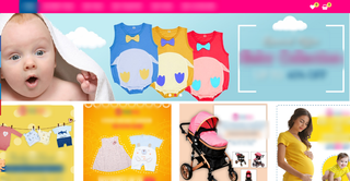 ECommerce store for maternity and baby products sold under own brand name.
