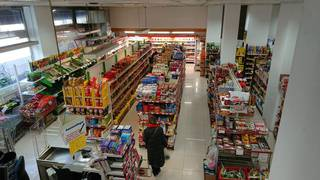 Supermarket in Central Munich with big storage, 1400 - 1700 bills on a daily basis.