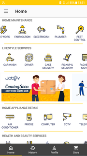 Providing home and local expert services through a mobile application and web portal.