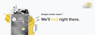 Website allowing users to avail electronic gadget repair services at their doorstep in Bangalore.
