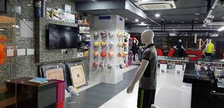 Sports and fitness retail shop in Hyderabad, receiving over 40 daily customer walk-ins.