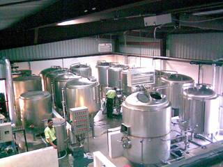 Non operational 10 HL microbrewery that has 9 fermenters and electrical / bottling setup.