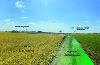 Exceptional commercial lands of 32.27 and 35.40 hectares located adjacent to the Bucharest Therme.