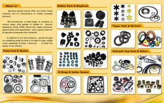 For Sale: Manufacturers of rubber products and industrial spares and supplying it to industrial units.
